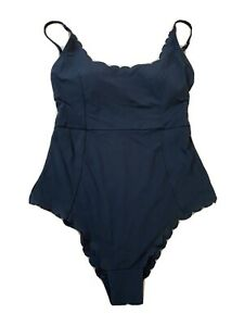 H&M Womans Size 6 Black One Piece Swimsuit Cheeky Bottom