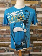 MCR Crosshatch Mens Blue Cotton Short Sleeved T-Shirt Size M