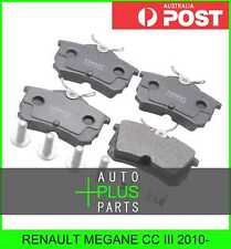 Fits RENAULT MEGANE CC III 2010- - Brake Pads Disc Brake (Rear)
