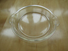 PYREX CASSEROLE BAKING DISH - ROUND GLASS LID 684-C-A-GG VINTAGE + TAB HANDLES