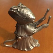 Seagull Canada Pewter Mouse Holding Drumsticks from 1993 2 1/2""