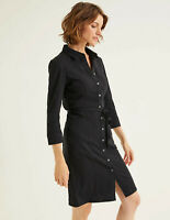 Boden Kleid - Tara Jersey Shirt Dress - Hemdblusenkleid Denim NEU - UK 6 L EU 34