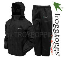 FROGG TOGGS RAIN GEAR-AS1310-01 MEN'S ALL SPORT BLACK SUIT HUNTING FISHING WEAR