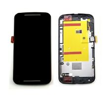 Motorola MOTO G2 2nd Gen LCD Screen Touch Digitizer Assembly Black with Frame
