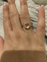 Quartz Rose Gold Ring Size 7.5 Plated