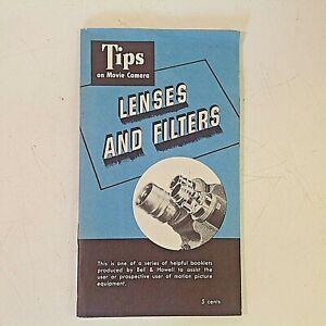 Vintage 1951 Bell Howell TIPS ON MOVIE CAMERA LENSES & FILTERS Booklet Film Co