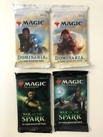 Magic the Gathering MTG War of the Spark Dominaria 15 Card Packs Lot of 4 Sealed
