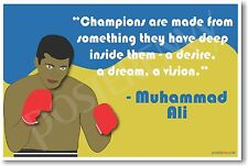 "Muhammad Ali - ""Champions Are Made...""  NEW Famous Athlete Sports Quote POSTER"