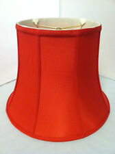 """12""""Red Silk Lampshade Modify Bell Shape Fabric Lamp Shade Spider Fitter NEW"""