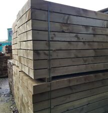 Timber Sleepers - 2.4m x 245mm x 120mm, Pressure Treated Green