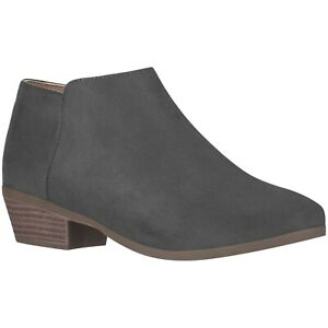 NEW Women's Low Heel Ankle Boot B Comfortable Everyday Round Toe Western Booties