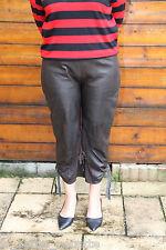joli pantalon modulable en cuir d'agneau souple GARELLA taille 42 (4)  ÉTAT NEUF