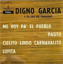 DIGNO GARCIA Y  SU TRIO DEL PARAGUAY ME VOY PA' EL PUEBLO FRENCH ORIG EP