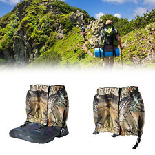 Mountain Hiking Hunting Boot Gaiters Waterproof Snake Leg Shoes Covers 20cm A2