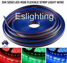 4 Pin Wire Flexible Extension Cable for RGB Led Strip Lights 5 Metres 5050 2835