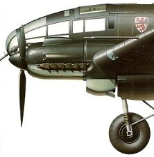 HEINKEL He-111 LUFTWAFFE BOMBER Famous Airplanes of the World FAOW Black No 99