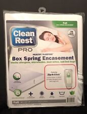 Clean Rest Pro Bug & Allergen blocking box spring encasement - Full size - NWT