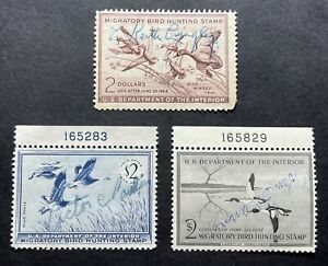 #RW20 RW21 RW22 - 1953 1955 1956 - US Federal Duck Stamp Collection - Signed