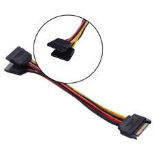 SATA 15-Pin Y-Splitter Stromkabel Adapter Stecker auf Buchse für HDD Festplatte