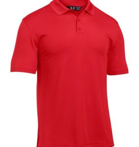 Under Armour 1279759 Men's Red UA Tactical Performance Polo Shirt, X-Large