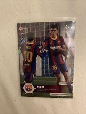 Topps Now Pedri 2020 Uefa Champions League RC Card Fc Barcelona