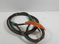 """Mazzella Mechanical Splice Wire Rope Sling, 6 x 37 Iwrc 10' L, 5/8""""D, 10"""" eyes"""
