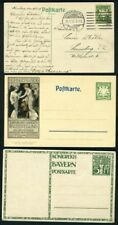 GERMANY BAVARIA LOT OF 3 POSTCARDS 2 PPC, MINT AND USED AS SHOWN