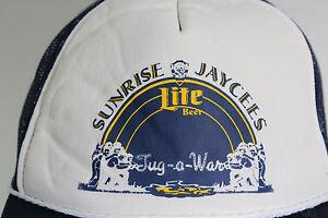 Vintage Miller Beer SUNRISE JAYCEES Lite Beer Tug-A-War Trucker Hat