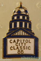 VINTAGE Soccer Ball Sports CAPITOL CITY CLASSIC  80s Hat Pin Badge Pinback