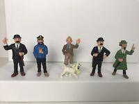 Rare Tintin Plastic Figures Set Of 6 - 1990 Bully - Snowy Thomson Haddock