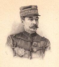 Portrait Général Alfred Dodds Sénégal Dahomey Bénin Indochine