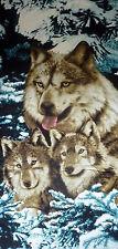 Strandtuch Handtuch Badetuch Wolf Wölfe im Schnee 100% Microfaser ca.140 x 70