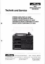 Service Manual-Anleitung für Metz AX 4980,SX 4981,CX 4982,TX 4983,TX 4984