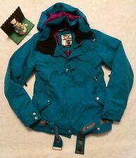 Oakley Medium M Snowboard Ski Jacket Regular Fit RECCO Teal Hooded New Display