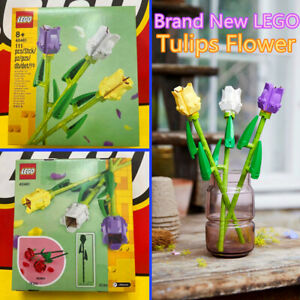 Brand New Lego 40461 Tulips Flower Bouquet Botanical Collection Kid Toys Gift