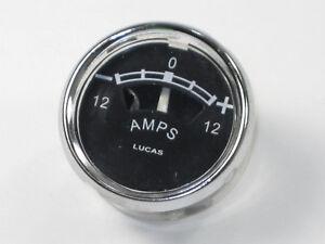 """36403  Ammeter 12V 12 Amp meter Triumph Norton BSA Lucas copy 1 5/8"""""""