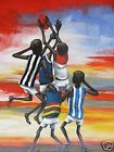 AFL OUTBACK GRAND FINAL PAINTING ART PRINT AUSSIE RULES TICKETS ABORIGINAL