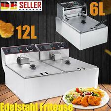 6/12L Elektrische Fettbackgerät Friteuse Fritteuse Fritöse Kochkünsten Doppel N