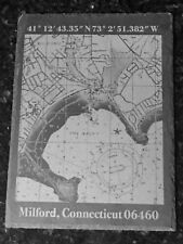 Custom engraved slate chart of Milford Harbor and Charles Island, Connecticut