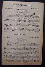 ) partition ancienne DANSES ALSACIENNES - hautbois