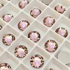 Swarovski Crystal 100 x SS12 Vintage Rose Pink flatback diamantes pretty glue on