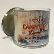 NEW BATH BODY WORKS CAMPFIRE DONUT 3-WICK 14.5 OZ SCENTED LARGE FILLED CANDLE