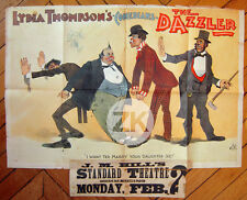 LYDIA THOMPSON Queen of Burlesque British Blondes THE DAZZLER Affiche 1890s