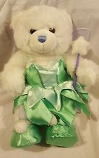 White Build a Bear With Fairy Costume Purple Wings and Wand Green Dress Shoes