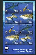 Grenada 2014 MNH Oceanic Whitetip Shark WWF 8v M/S Sharks Marine