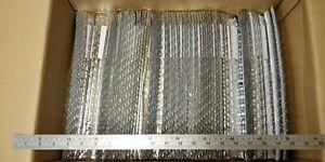 JOB LOT 100 SILVER PADDED ENVELOPE BAG METALLIC PLASTIC MAILER NEW K-7 470 x 350