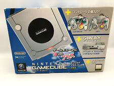 Nintendo GameCube Enjoy Plus Pack Clear Silver Game Boy Player F/S #0127B