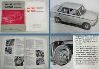 Fiat 1300 1500 Limousine PKW Betriebsanleitung Bedienungsanleitung 09/1966