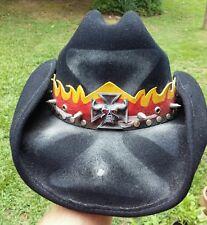 Bullhide metal Collection Black wool shapeable Cowboy Hat Hank 3 Lemmy Danzig