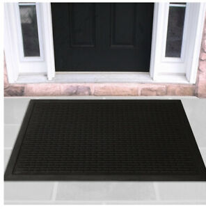 Rubber Doormat Entrance Rug Indoor/Outdoor Door Shoe Scraper and Room Floor Mat